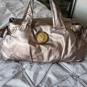 GUCCI⭐AUTHENTIC LARGE PEWTER HYSTERIA SATCHEL